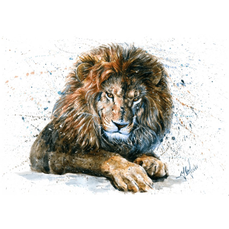Lion Watercolor Diam...