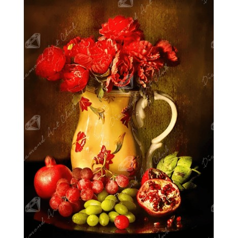 Flower and Fruits Diamond Painting Kit