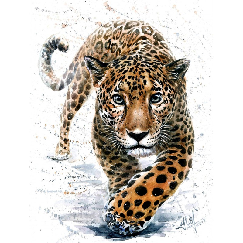 Leopard Watercolor D...