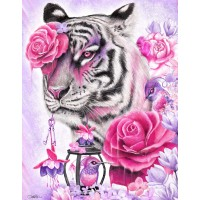 Fuchsia Tiger Diamond Pai...