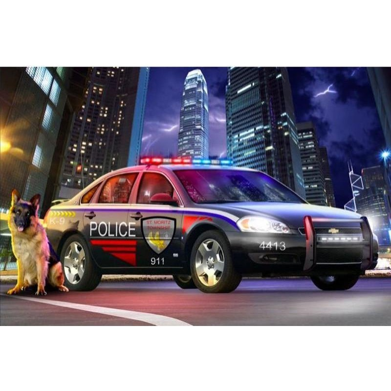 Police Car And Dog D...