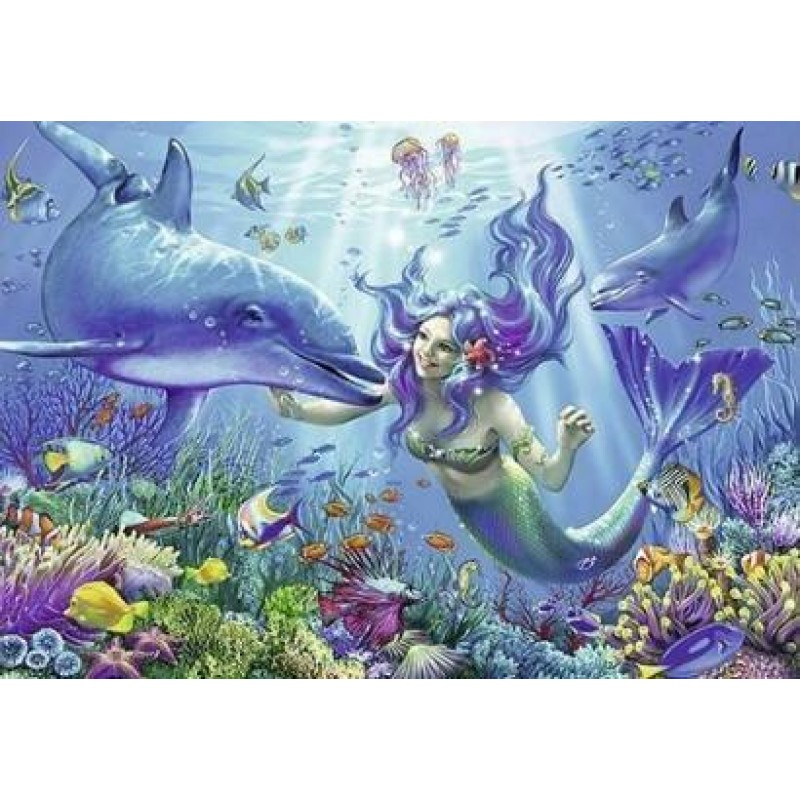 Mermaid And Dolphin ...