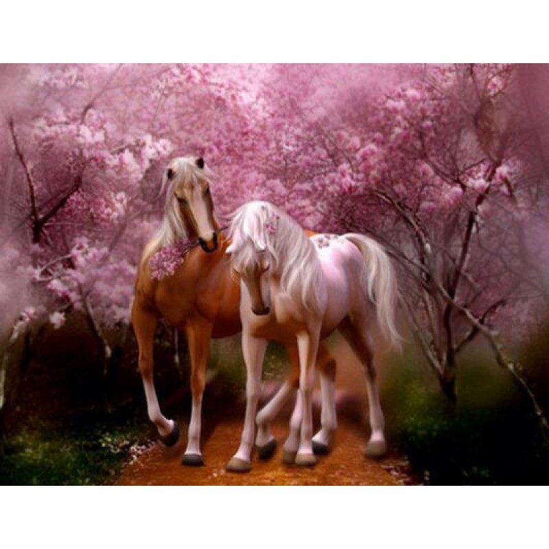 Horses Rose Love Dia...