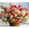 Colorful Flowers And Flower Basket Diamond Painting Kit