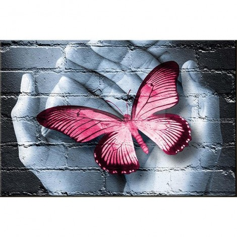 Butterfly in the hand Diamond Painting Kit