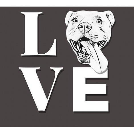 Pitbull Love Diamond Painting Kit