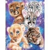 Galaxy Wild Kitten Cubs Diamond Painting Kit